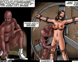 Busty dark haired chick gets captured - BDSM Art Collection - Pic 1