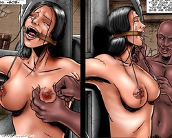 Busty dark haired chick gets captured - BDSM Art Collection - Pic 2