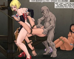 Two busty enslaved babes get fucked by - BDSM Art Collection - Pic 2