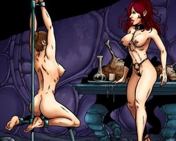 Gagballed slave brunette gets her holes - BDSM Art Collection - Pic 2