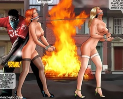 Blonde and redhead slave chicks used as - BDSM Art Collection - Pic 1