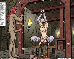 Big boobed blonde stunner gets her love - BDSM Art Collection - Pic 3