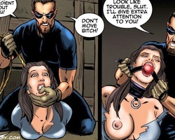 Two tied up slave shicks suffering hard - BDSM Art Collection - Pic 1