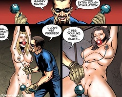 Two tied up slave shicks suffering hard - BDSM Art Collection - Pic 4