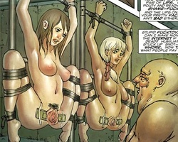 Two busty enslaved school girls gets - BDSM Art Collection - Pic 6