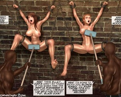 Big boobed slave babes get their - BDSM Art Collection - Pic 1