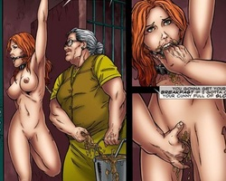 Hanged upside down slave babe gets her - BDSM Art Collection - Pic 3