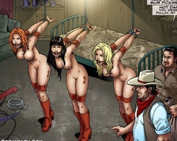 Hanged upside down slave babe gets her - BDSM Art Collection - Pic 5