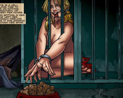 Roped blonde slave hottie will never - BDSM Art Collection - Pic 3