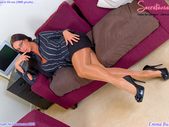 Busty office stunner in tan stockings - XXX Dessert - Picture 4