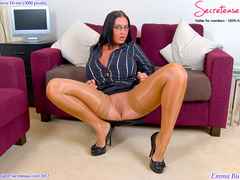 Busty office stunner in tan stockings - XXX Dessert - Picture 6