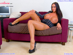 Busty office stunner in tan stockings - XXX Dessert - Picture 8