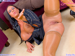 Busty office stunner in tan stockings - XXX Dessert - Picture 12