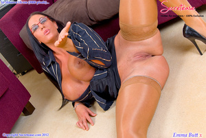 Busty office stunner in tan stockings pl - XXX Dessert - Picture 12