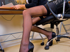 Xxx pics of blonde secretary in blue - XXX Dessert - Picture 1
