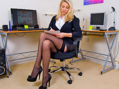 Xxx pics of blonde secretary in blue - XXX Dessert - Picture 3