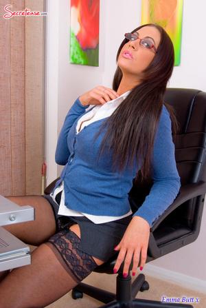 Xxx pics of busty secretary in black sta - XXX Dessert - Picture 1
