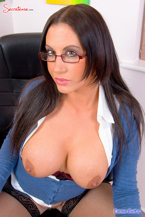 Xxx pics of busty secretary in black sta - XXX Dessert - Picture 10