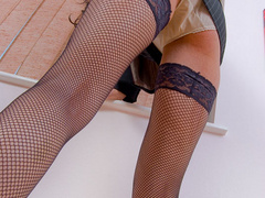 Big boobed office chick in fishnet - XXX Dessert - Picture 5