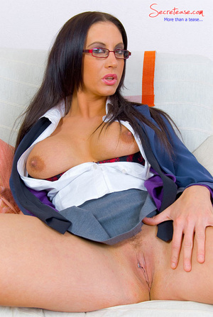 Lusty secreatary with huge boobs has no  - XXX Dessert - Picture 10