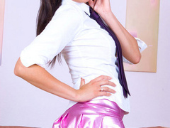 Horny secreatry in shiny miniskirt slwoly - XXX Dessert - Picture 3
