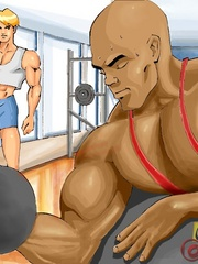 Hot free sexy gay cartoons at the gym. Tags: cartoon - Picture 1