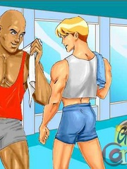 Hot free sexy gay cartoons at the gym. Tags: cartoon - Picture 2