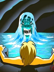 Hot fee fuck with the water monster. Tags: cartoon - Picture 5