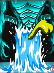 Hot fee fuck with the water monster. Tags: cartoon - Picture 12