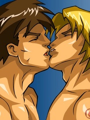 Cartoon hentai presents two very handsome guys - Picture 2