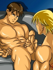 Cartoon hentai presents two very handsome guys - Picture 6