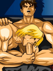 Cartoon hentai presents two very handsome guys - Picture 9