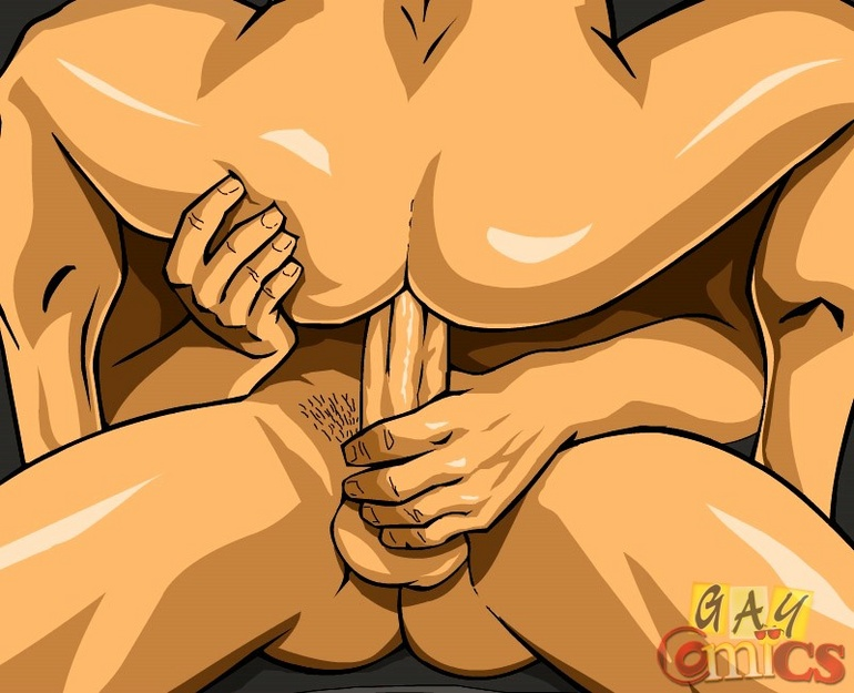 Cartoon hentai presents two very handsome guys - Picture 12