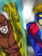 Cartoon hentai with gay monsters fucking gay humans. - Picture 5
