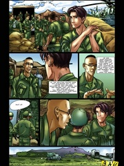 Splash your load out on xxx cartoons in the army. - Picture 3
