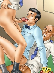 Super hot gay sex between the pilots and a sexy - Picture 4
