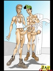 Super hot gay scenes in today's xxx cartoons. Tags: - Picture 4