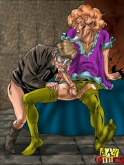 Hot man-on-man action in this cartoon fuck hot story. - Picture 4