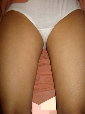 Xxx homemade pics of indian chick taking off her white panties and fingering her twat. - XXXonXXX - Pic 5