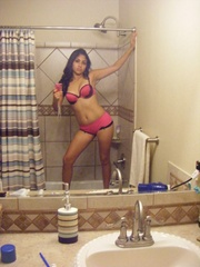 Delicious indian cutie taking off her pink undies - XXXonXXX - Pic 1