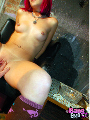 Naked emo slut with shaved pussy getting drilled - XXXonXXX - Pic 4
