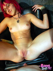 Naked emo slut with shaved pussy getting drilled - XXXonXXX - Pic 5