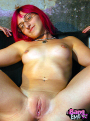 Naked emo slut with shaved pussy getting drilled - XXXonXXX - Pic 9