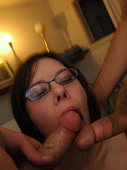 Cock sucking homemade emo porn with nerdy emo - XXXonXXX - Pic 3