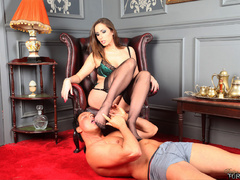 Sex starving brunette milf in black - XXX Dessert - Picture 8