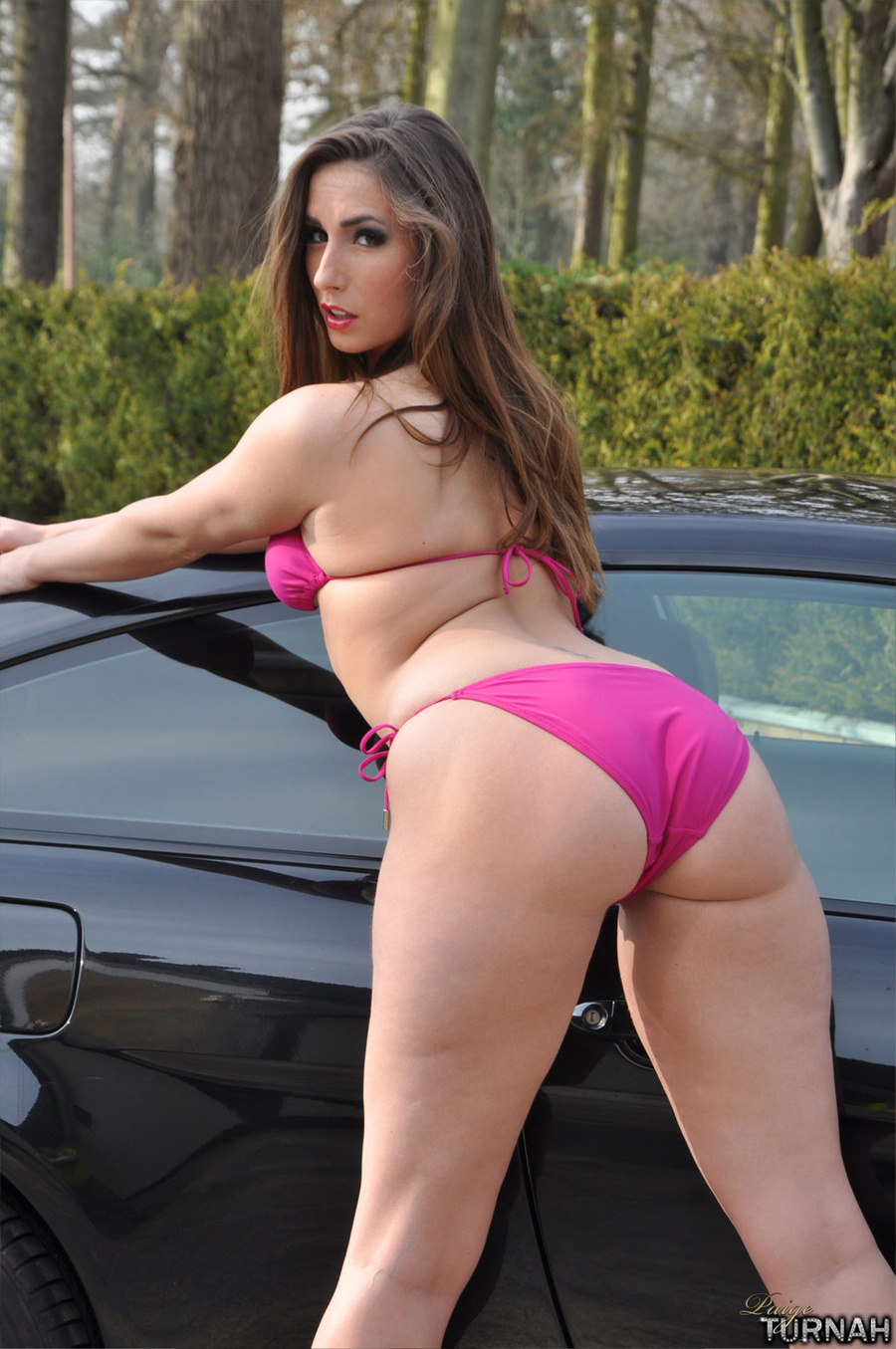Perfect Ass <b>perfect ass</b> and boobs milf brunette in pink bikini perfo <b></b>