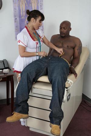 Busty asian nurse in white kneesocks enj - XXX Dessert - Picture 1