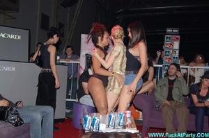 Xxx party blue painted striper girl in white panties looking so sexy while dancing on the pole in public. - XXXonXXX - Pic 11