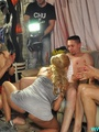 Orgy party pics of real amateur dude gets his ass hole fingered and cock sucked by three babes.