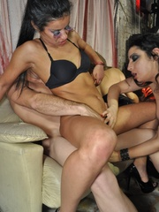 Group sex party pics of four naughty beauties - XXXonXXX - Pic 7